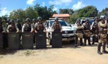 foto: redes sociais. Policiais efetuam despejo dos verdadeiros donos das terras.